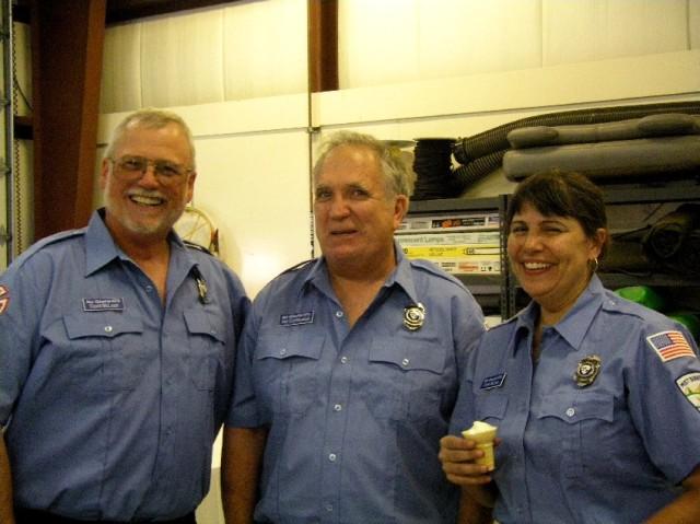 Three Volunteers from Fishhawk Lake who Support Mist-Birkenfeld Fire Deparmtent