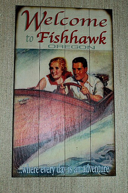Welcome to Fishhawk sign Black Forest Decor 2012-12-096