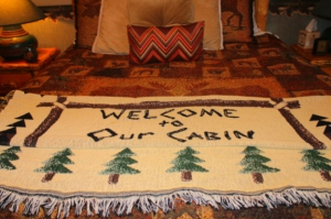 Welcome to our cabin throw 2012-12-087