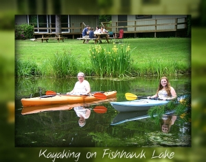 Kayaking by the Fishhawk Lake Clubhouse
