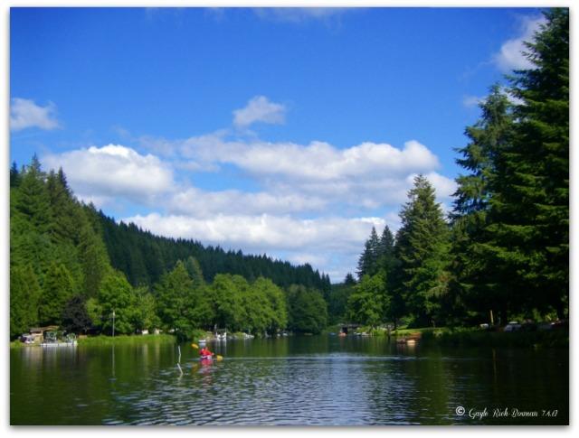 Summer kayaking on Fishhawk Lake
