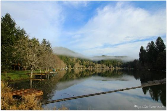 Fishhawk Lake February overlooking the log boom Photo by Gayle Rich-Boxman